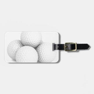 Etiqueta De Bagagem Grupo de bolas de golfe