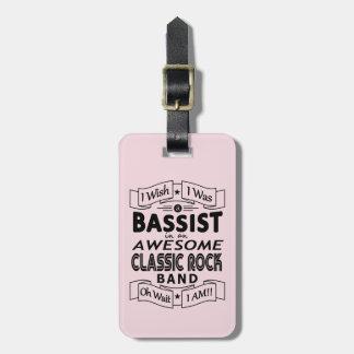 Etiqueta De Bagagem Grupo de rock clássico impressionante do BAIXISTA