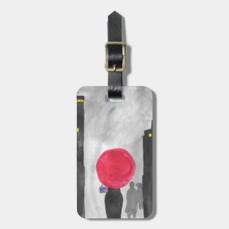 Etiqueta De Bagagem Guarda-chuva vermelho