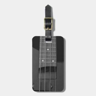 Etiqueta De Bagagem Guitarra baixa elétrica da música do viagem