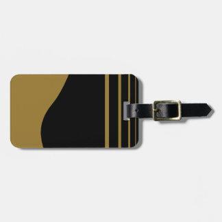 Etiqueta De Bagagem Guitarra dourada personalizada
