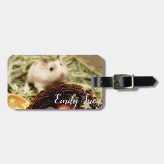 Etiqueta De Bagagem Hammyville - hamster bonito