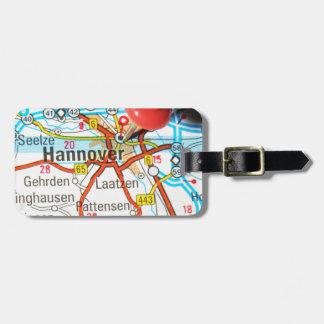 Etiqueta De Bagagem Hannover, Hanover, Alemanha