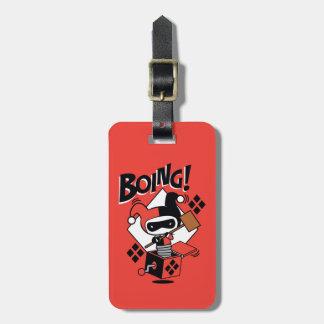 Etiqueta De Bagagem Harley-Quinn-Em-UM-Box de Chibi com martelo