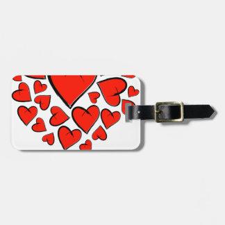 Etiqueta De Bagagem Heartinella - corações do vôo
