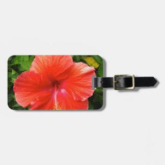 Etiqueta De Bagagem Hibiscus vermelho tropical Bonita Springs Florida