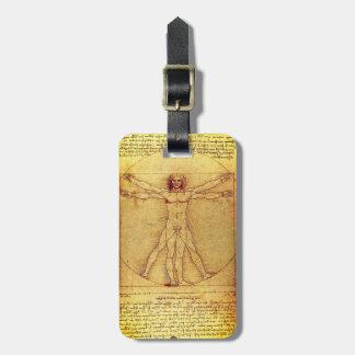 Etiqueta De Bagagem Homem de Vitruvian por Leonardo da Vinci