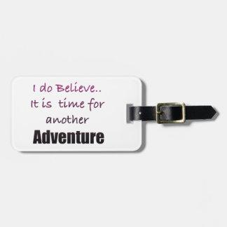 Etiqueta De Bagagem Hora para o viajante da aventura