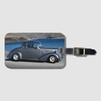 Etiqueta De Bagagem Hot Rod mestre do cupé de Chevy lago 1935 cénico