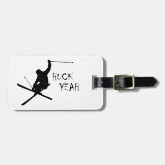 Etiqueta De Bagagem Huck yeah (esqui)