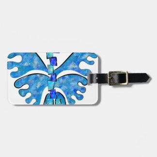 Etiqueta De Bagagem Icelonius - borboleta azul do gelo
