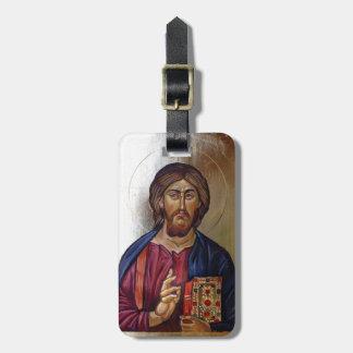 Etiqueta De Bagagem Ícone bizantino do cristo Pantocrator