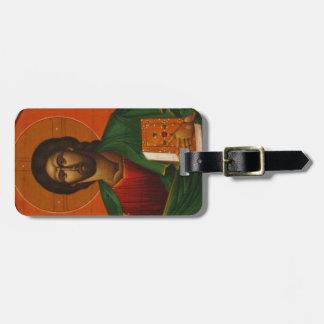Etiqueta De Bagagem Ícone cristão ortodoxo do Jesus Cristo