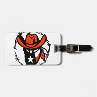 Etiqueta De Bagagem Ícone foragido do fio de Barb da bandeira de Texas