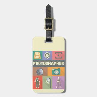 Etiqueta De Bagagem Icónico profissional do fotógrafo projetado