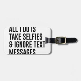 Etiqueta De Bagagem Ignore textos