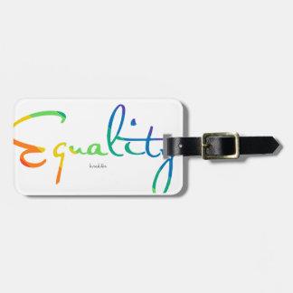 Etiqueta De Bagagem Igualdade