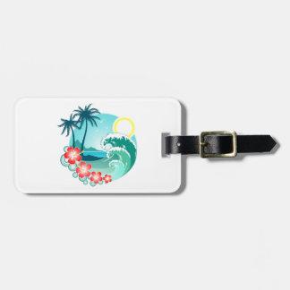 Etiqueta De Bagagem Ilha havaiana 2
