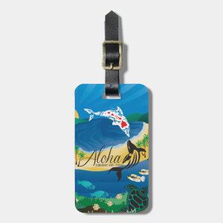 Etiqueta De Bagagem Ilhas de Havaí