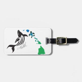 Etiqueta De Bagagem Ilhas de Havaí e baleia 21 de Havaí