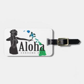 Etiqueta De Bagagem Ilhas de Havaí e dança 32 de Hula