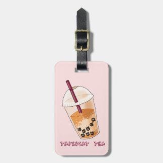 Etiqueta De Bagagem Ilustração da chalaça do chá de Tapiocat