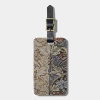 Etiqueta De Bagagem Impressão botânico do tecido do Bluebell de