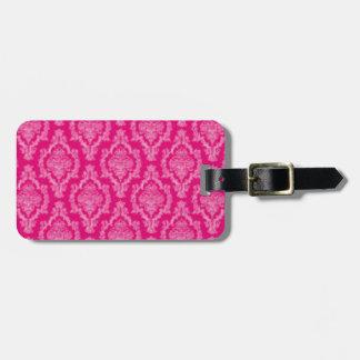 Etiqueta De Bagagem Impressão cor-de-rosa da cor damasco