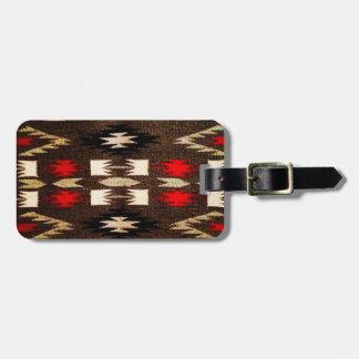 Etiqueta De Bagagem Impressão tribal do design do Navajo do nativo