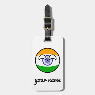 Etiqueta De Bagagem India Geeky de tensão engraçado Countryball