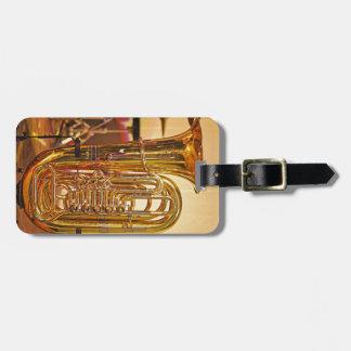 Etiqueta De Bagagem Instrumento de bronze da tuba