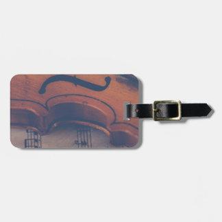 Etiqueta De Bagagem Instrumento musical clássico de instrumento de