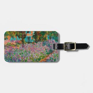 Etiqueta De Bagagem Íris no jardim de Monets em Giverny por Claude