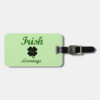 Etiqueta De Bagagem Irlandês pelo casamento