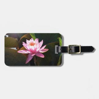 Etiqueta De Bagagem Jardim floral cor-de-rosa Sunlit da água de