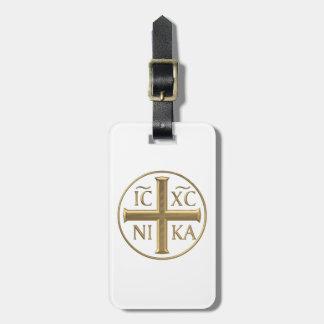 """Etiqueta De Bagagem Jesus Cristo """"3-D"""" dourado: Conquista"""