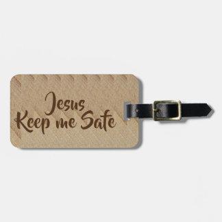 Etiqueta De Bagagem Jesus mantem-me Tag seguro da bagagem