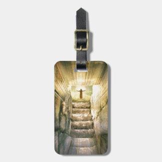Etiqueta De Bagagem Jesus na ressurreição vazia da páscoa do túmulo
