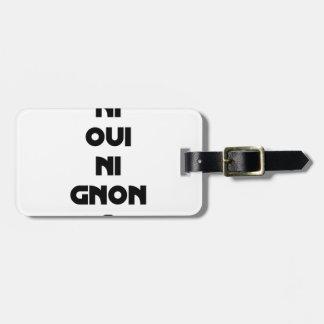 Etiqueta De Bagagem JOGA-SE NEM SIM NEM À GNON? - Jogos de palavras -