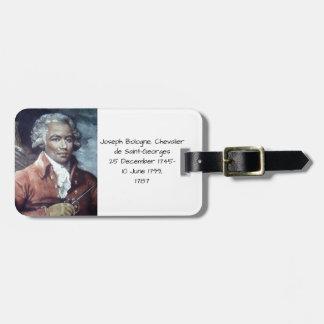 Etiqueta De Bagagem Joseph Bologne, Cavaleiro de Santo-Georges