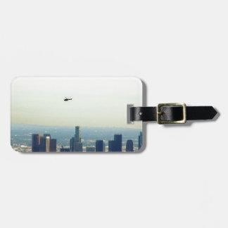 Etiqueta De Bagagem LA e helicóptero