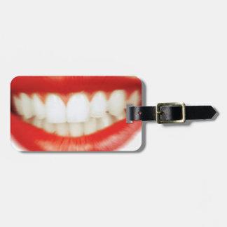 Etiqueta De Bagagem Lábios vermelhos