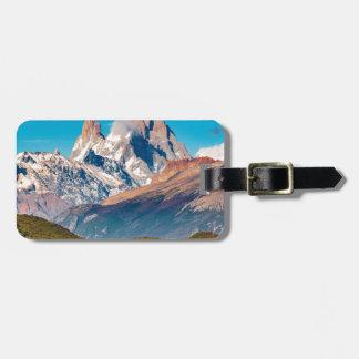 Etiqueta De Bagagem Lago e montanhas de Andes, Patagonia - Argentina