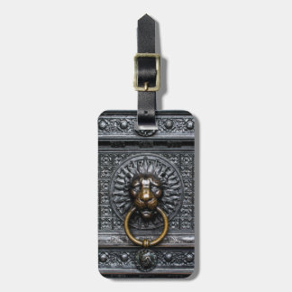 Etiqueta De Bagagem Leão de Doorknocker - preto/ouro