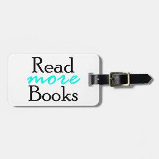 Etiqueta De Bagagem Leia mais livros