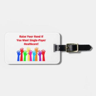 Etiqueta De Bagagem Levante sua mão para cuidados médicos do