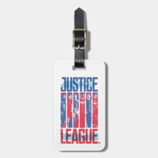 Etiqueta De Bagagem Liga de justiça pop art azul & vermelho de | do