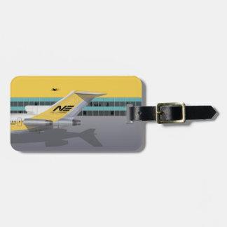 Etiqueta De Bagagem Linha aérea amarela do pássaro