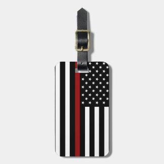 Etiqueta De Bagagem Linha vermelha fina Tag do sapador-bombeiro da