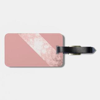 Etiqueta De Bagagem listras cor-de-rosa do rosa do ouro do falso claro